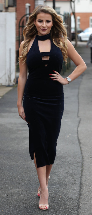 TOWIE star Georgia Kousoulou filming in Essex, 12 October 2016