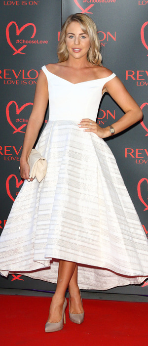 Lydia Bright, TOWIE, on the red carpet at the Revlon Choose Love Ball, London, 21 July 2016
