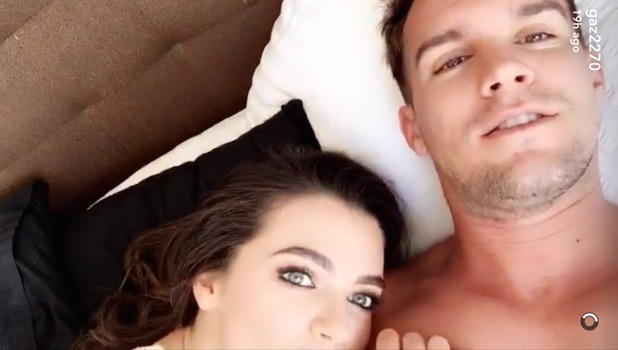 Gaz Beadle and Emma McVey in bed together, Snapchat 10 October
