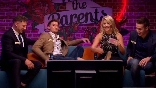 Holly Willoughby waxes contestant's leg on Meet The Parents, ITV 13 October