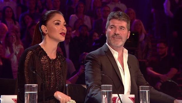 Nicole Scherzinger and Simon Cowell, The X Factor 9 October