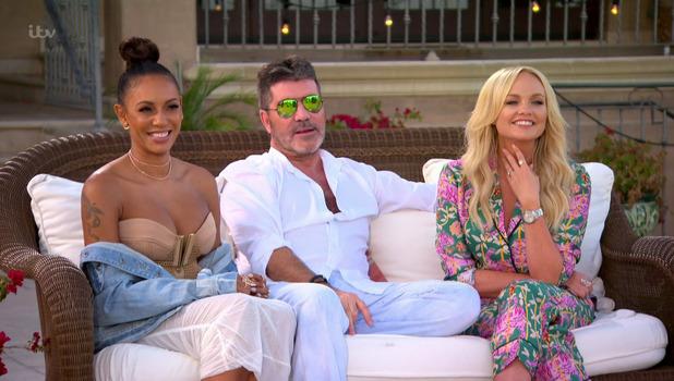Simon Cowell, Mel B and Emma Bunton, The X Factor 1 October