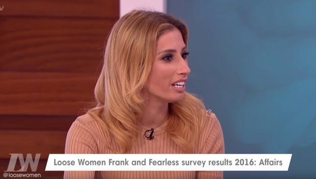 Stacey Solomon appears on Loose Women, ITV 11 October