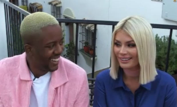 Chloe Sims and Vas J Morgan discussing row with Courtney Green,10/10/16