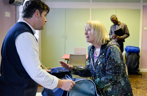 EastEnders, Pam at the homeless shelter, Thu 13 Oct