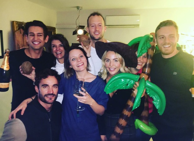 Lydia Bright, Ollie Locke, Thom Evans and Josie Long at post-party for Stand Up To Cancer's Celebrity Island with Bear Grylls