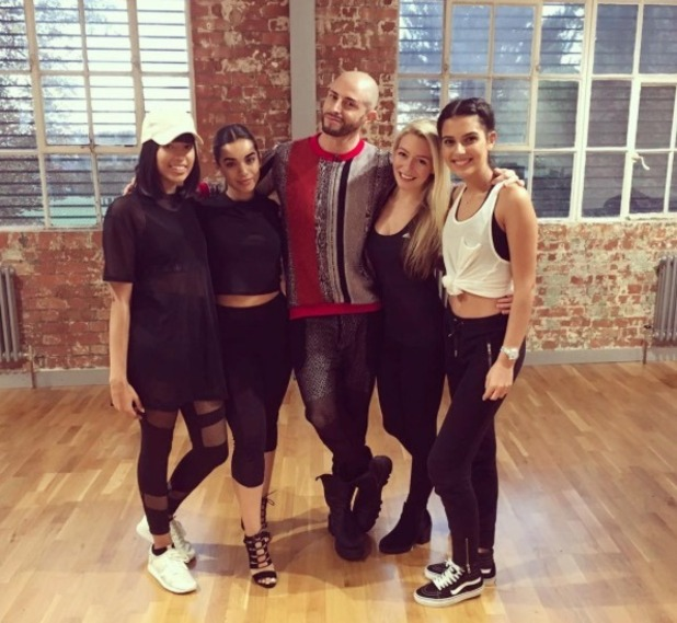 Four Of Diamonds rehearse with Brian Friedman - 12 Oct 2016