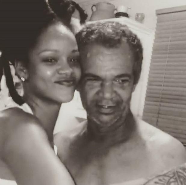 Rihanna with dad Ronald Fenty, 13/10/16