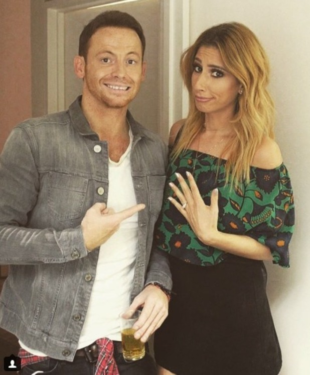 Joe Swash pretends to propose to Stacey Solomon on Celebrity Juice - 13 Oct 2016