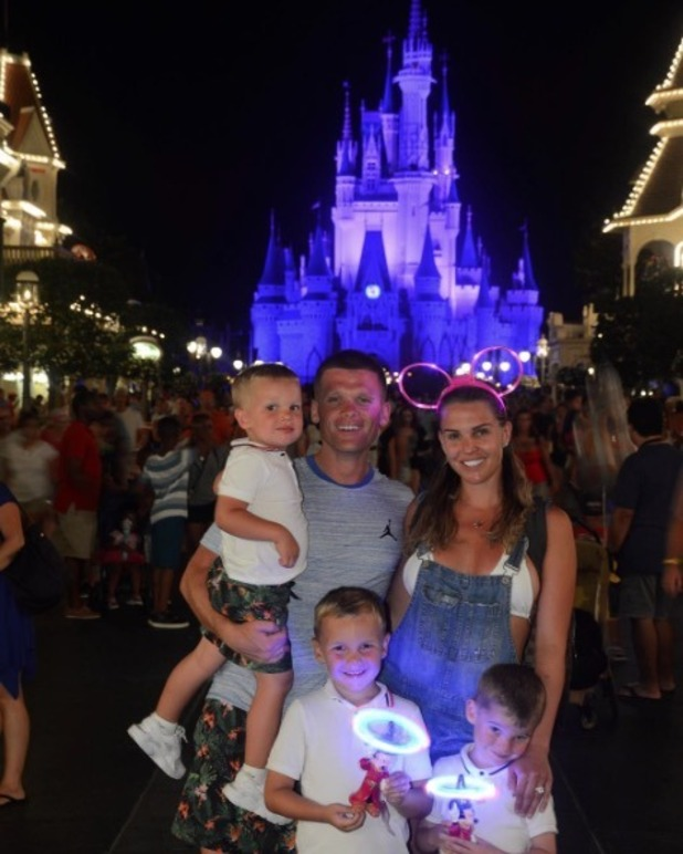 Danielle Lloyd and Michael O'Neill enjoy a family holiday to Florida with her children - 11 October 2016