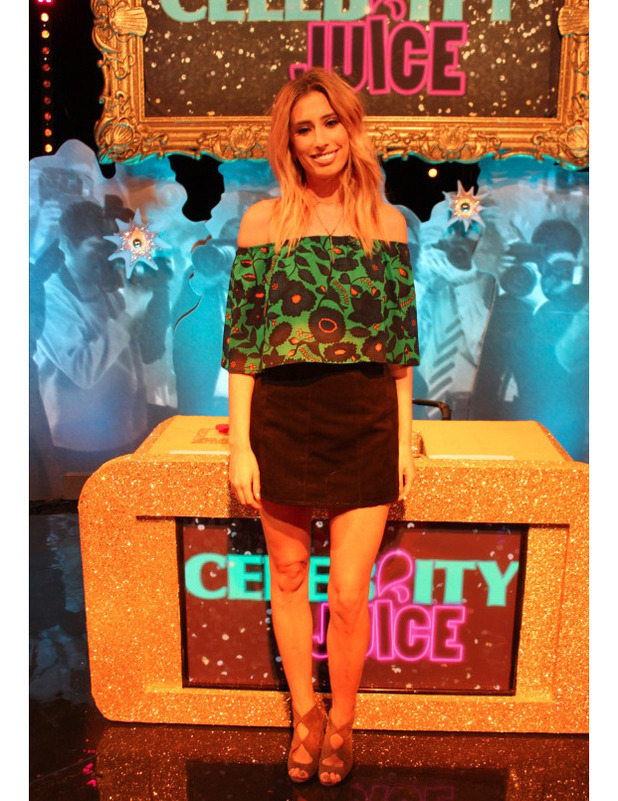 Stacey Solomon appears on Celebrity Juice, 13 October 2016