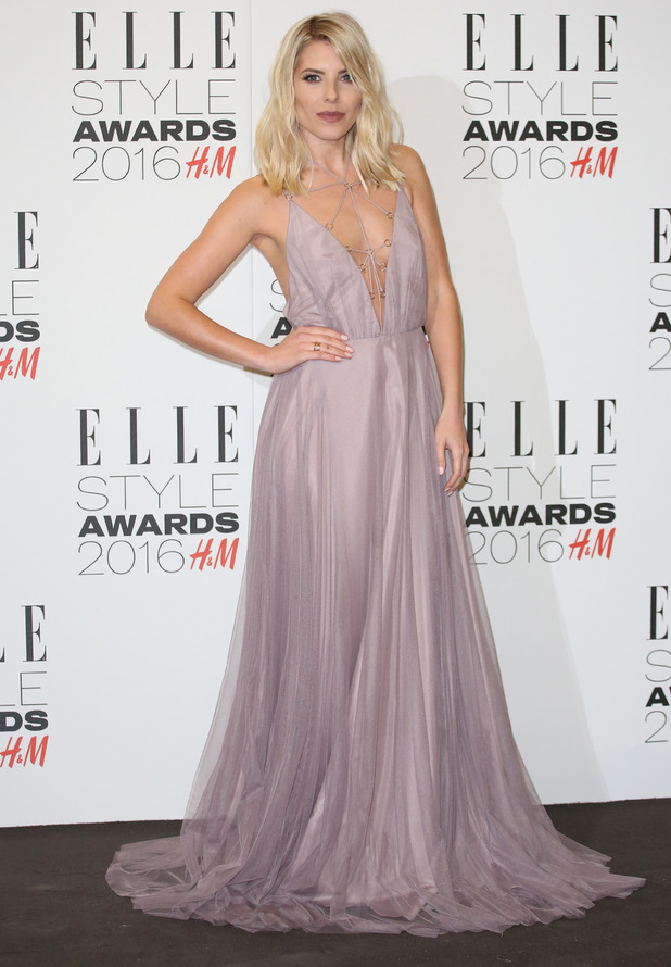 The Saturdays singer Mollie King at the ELLE Style Awards, London, 24 February 2016