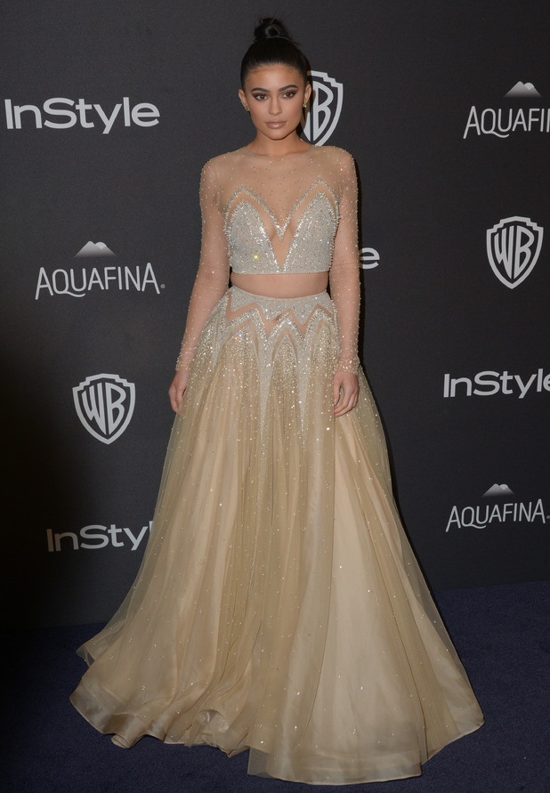 Kylie Jenner at the Golden Globe Awards, Los Angeles, 10 January 2016
