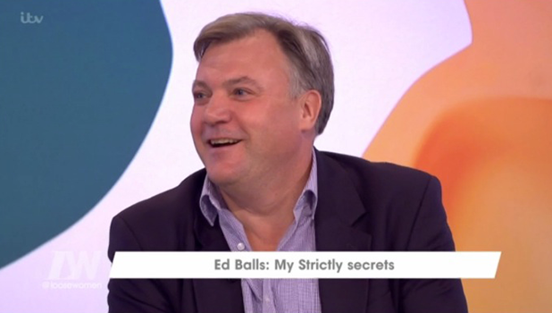 Ed Balls talks Strictly Come Dancing on Loose Women 11 October 2016