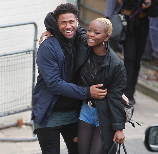 Contestants seen arriving at the Fountain Studios for the X Factor rehearsals, in London Jordan Lee and Gifty Louise