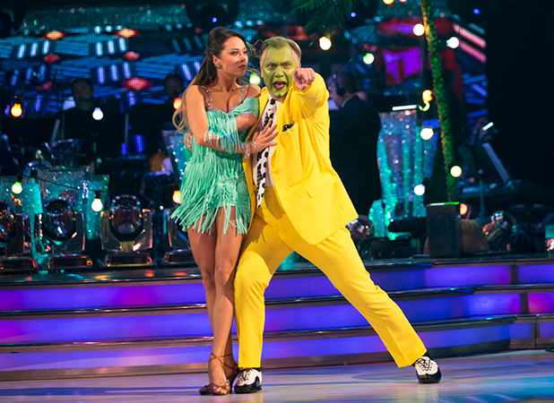 Ed Balls as The Mask on Strictly Come Dancing, October 2016