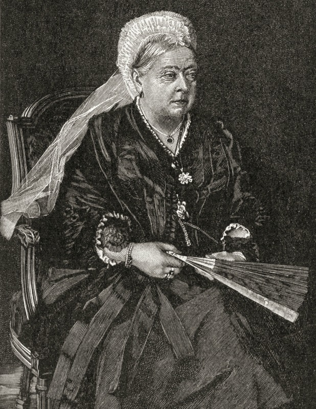 Queen Victoria, 1819 – 1901. Queen of the United Kingdom of Great Britain and Ireland and Empress of India. From A First Book of British History published 1925. 2010s