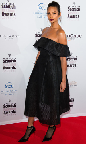 Alesha Dixon attends The Scottish Fashion Awards at Rosewood London on October 21, 2016 in London, England.