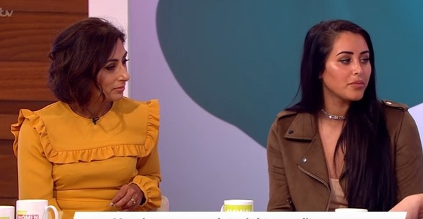 Marnie Simpson reunites with Saira Khan on Loose Women 19 October 2016
