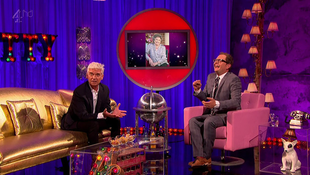 Alan Carr and Phillip Schofield on Chatty Man, Channel 4 2014