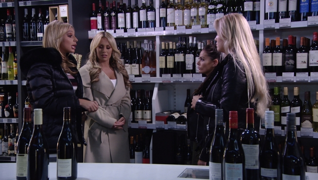 TOWIE: Courtney Green and Chloe Meadows confront Amber Dowding 23 October