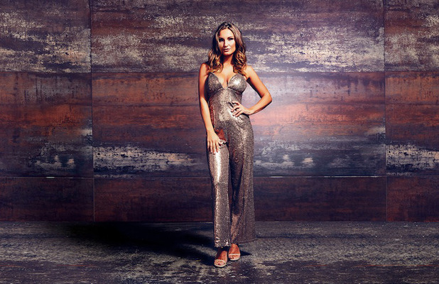 Former TOWIE star Sam Faiers choses Rare London party edit, sequin jumpsuit 18 October 2016