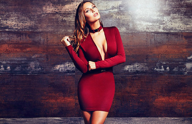 Former TOWIE star Sam Faiers choses Rare London party edit, red dress 18 October 2016
