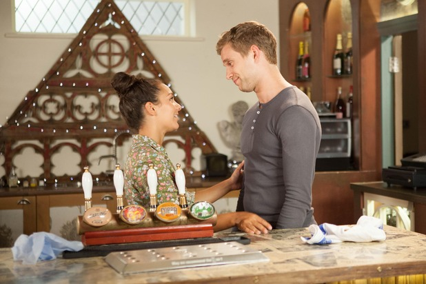 Hollyoaks, Nathan and Cleo, Wed 19 Oct