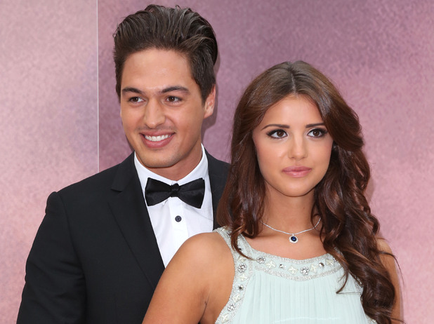 Mario Falcone and Lucy Mecklenburgh open a replica of Rose's cabin at Westfield London to launch the release of Titanic on Blu-ray and Blue-ray 3D London, England - 11.09.12