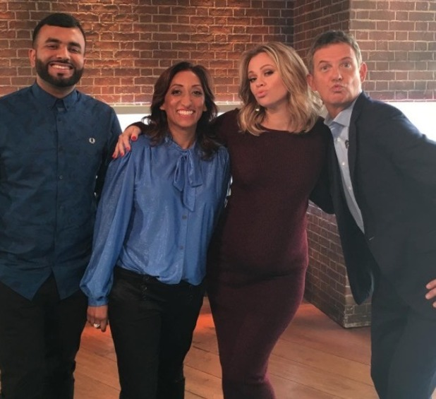 Pregnant Kimberley Walsh appears on The Wright Stuff - 17 Oct 2016