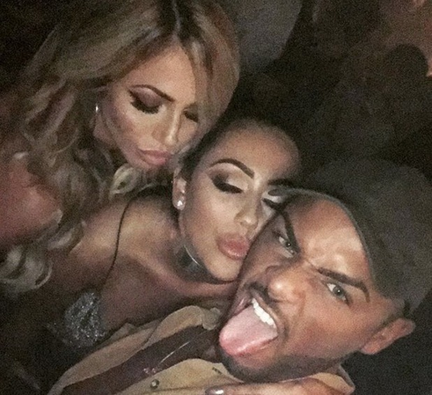 Sophie Kasaei, Nathan Henry and Holly Hagan selfie, Instagram 18 October