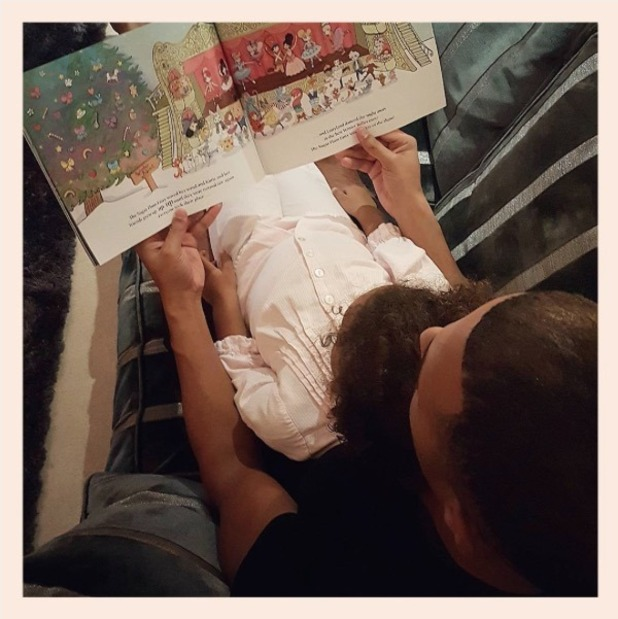 Marvin Humes reads a bedtime story to daughter Alaia-Mai - 18 October 2016