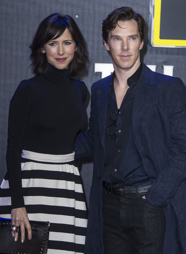 Benedict Cumberbatch and wife Sophie Hunter, Star Wars premiere, London December 2015