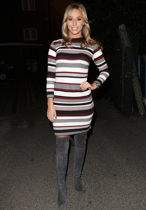 TOWIE star Amber Dowding filming in Essex, 19 October 2016