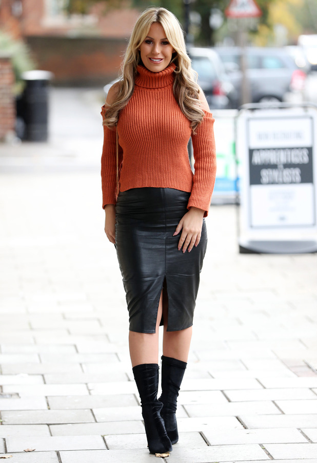 TOWIE star Kate Wright filming in Essex 20 October 2016