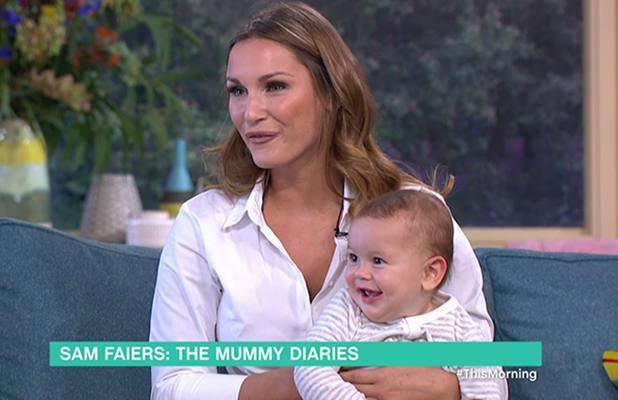 Sam Faiers appears on 'This Morning' with her baby son Paul to promotes her new ITVBe series 'Sam Faiers: The Mummy Diaries'. Broadcast on ITV1HD