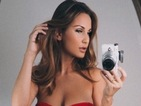 Ex TOWIE star Sam Faiers gives us an eyeful of her boobs as she ditches the bra in low-cut red dress