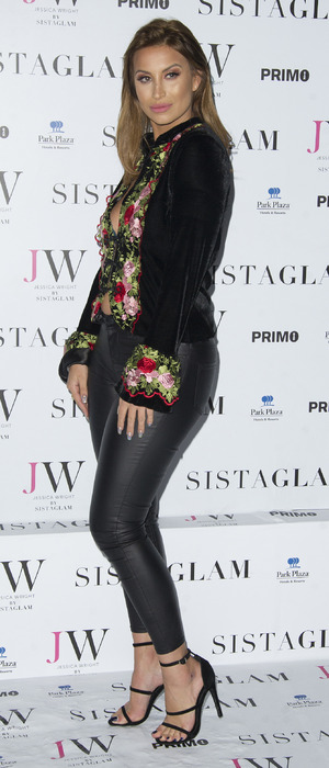 Former TOWIE star Ferne McCann attends the Sistaglam launch party, London 26 October 2016