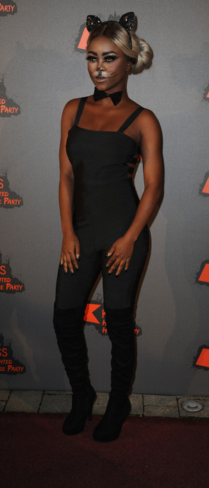 X Factor contestant Gifty Louise at the KISS FM Haunted House Party, London, 27 October 2016