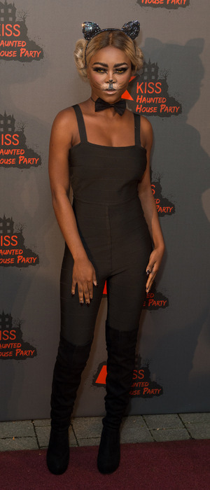 X Factor singer Gifty Louise at the KISS FM Haunted House Party, London, 27 October 2016