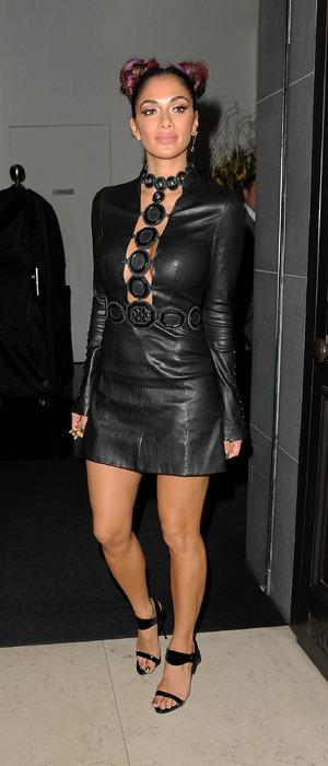 Nicole Scherzinger spotted outside Mr. Chow restaurant, London 26 October 2016