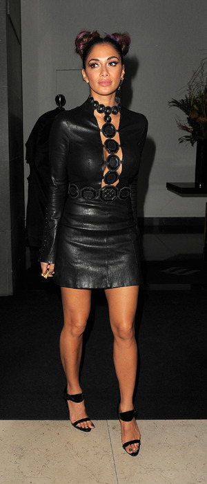 X Factor judge Nicole Scherzinger spotted leaving Mr. Chow restaurant, London, 26 October 2016