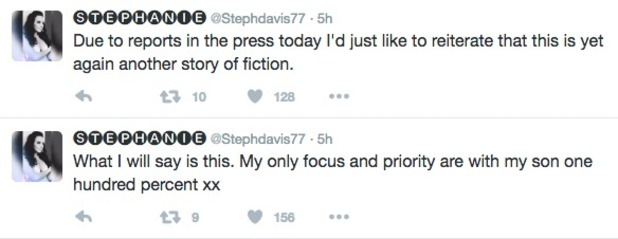 Stephanie Davis tweets about boyfriend rumours 25 October