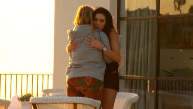 Geordie Shore: Holly Hagan and Chloe Ferry hug 25 October