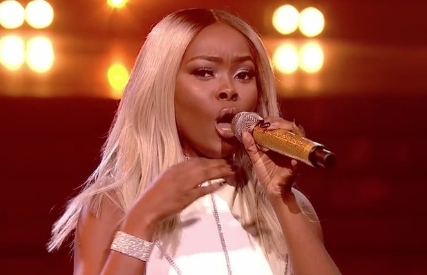 Gifty Louise performs on The X Factor during week three's Divas theme - October 2016