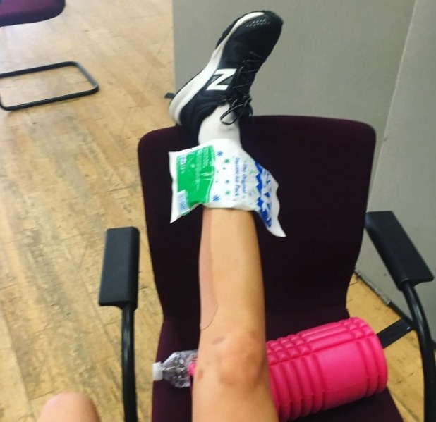 Laura Whitmore ankle injury, Instagram 27 October