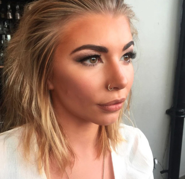Love Island star Olivia Buckland has her make-up done by make-up artist Connie Simmonds, 26 October 2016