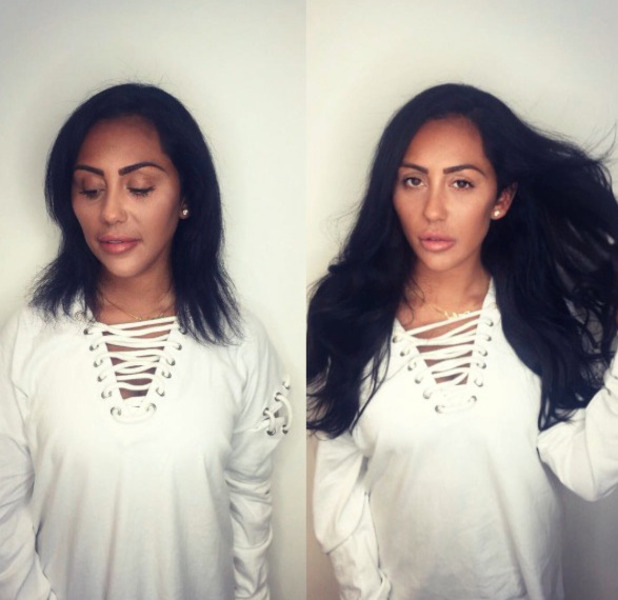 Geordie Shore star Sophie Kasaei shares before and after picture as she pays Easilocks a visit of new hair extensions, Instagram, 26 October 2016
