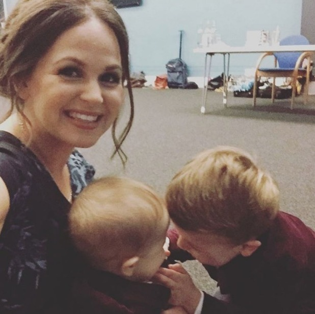 Giovanna Fletcher with children Buddy and Buzz 28 October