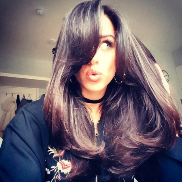 Strictly star Georgia May Foote shows off her new hairstyle on Instagram, 24 October 2016